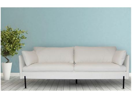 ICELAND - Off White Leather Living Room Sofa