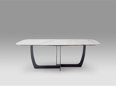 H4-T2085 - White Marble Dining Table