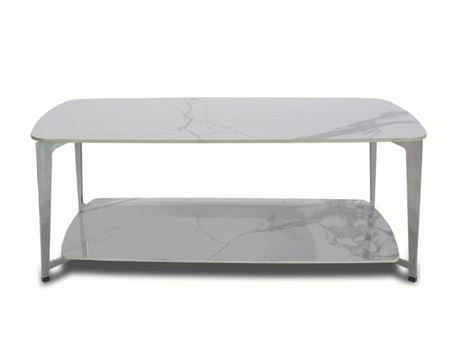 LC-033-1 - White Ceramic Center Table
