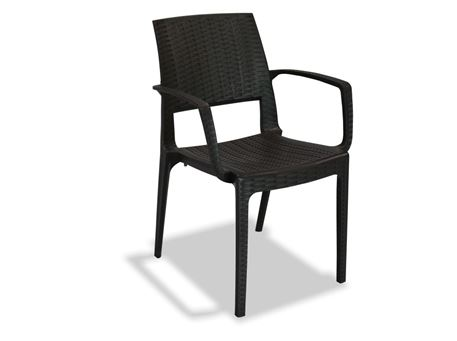 EDEN- A - Brown Plastic Dining Chair