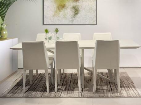 GRADY - Modern Glass Top Dining Set