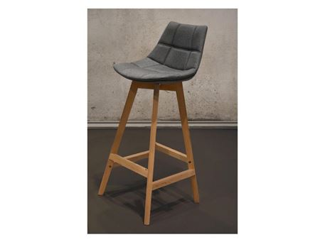 Y03-2 - Grey Upholstered Seat Barstool
