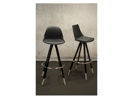 Z-0L - Black Fixed Seat Bar Stool