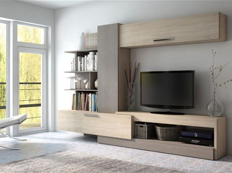 LYRIC - Oak And Grey Tv Unit