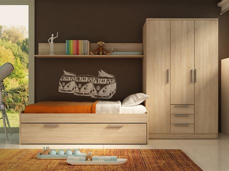 ROBLE - Single Bed With Drawer Bedroom Set