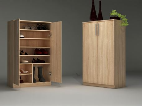 ROBLE- Simple Oak Shoe Cabinet