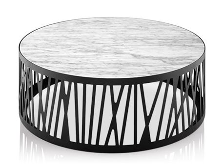 LC-040A - Round White Marble Top Center & Side Tables