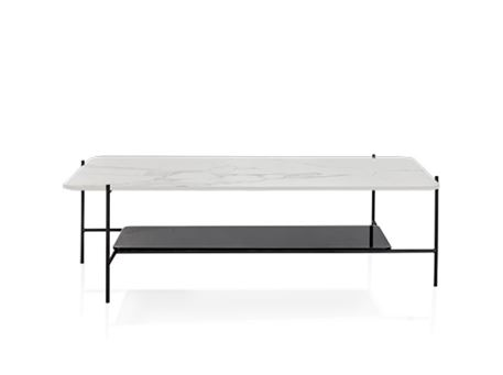 LC-047-1 - White Marble Top Center Table