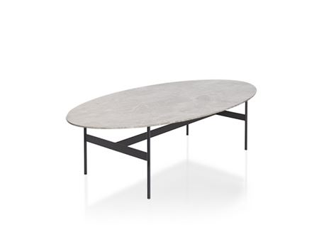 LC-048 - Grey Marble Top Center Table
