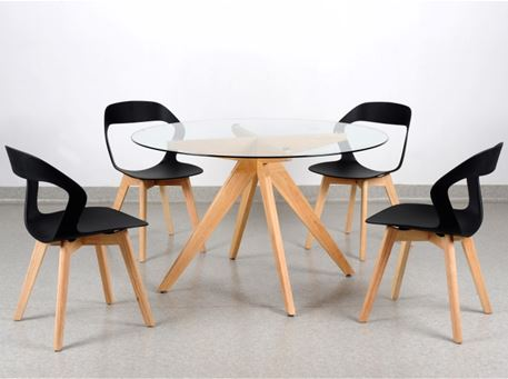 229 - Compact Round Dining Table Whith Chairs