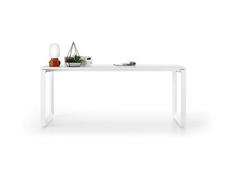 TRIS TL - Rectangular White Meeting Table