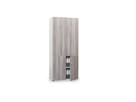 VENICE - Tall White Office Cabinet