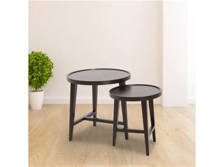 107AB - Black Oak 2 Nesting Side Tables