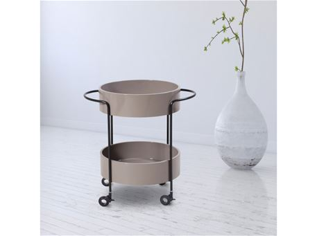 398B - Modern Round Grey Trolley