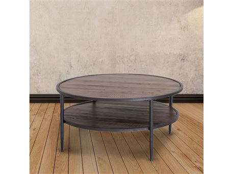 6028 - Round Dark Walnut Center Table