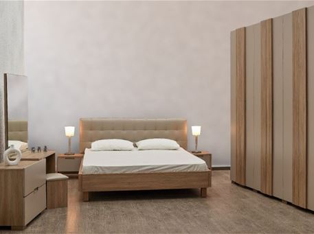 SOUHA - Greige Queen Size Bedroom Set