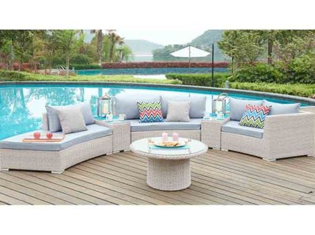MLM-210183 - Outdoor Curved Rattan Living Set