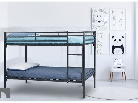 TROY - Black Metal Frame Bunk-bed
