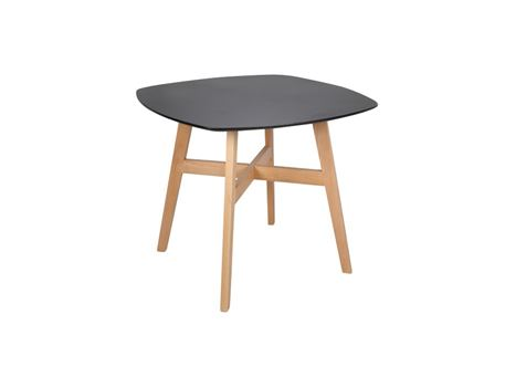 834 - Kitchen Table, Black Wood Top