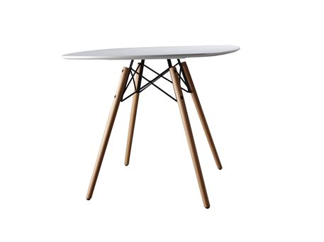 834-1B - Round Compact White Kitchen Table