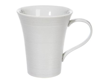 49570 - White Porcelain Mug With Stripes.