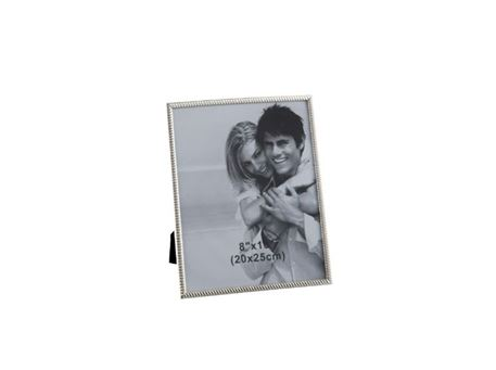 65063 - Large Sized Silver Metal Photo Frame