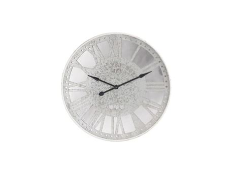 82706 - Grey Metal With Mirror Wall Clock