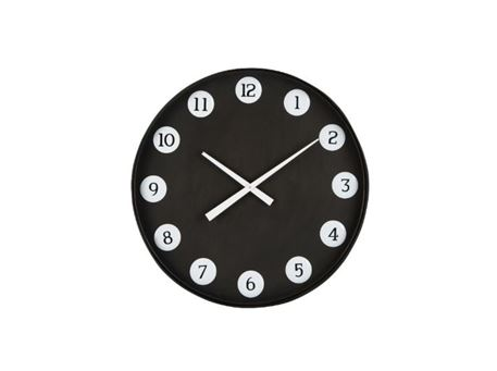 87931 - Round Clock With Metal Numbers