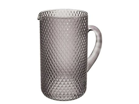 84894 - Grey Check Pattern Carafe