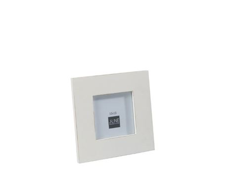 68197 - White Wooden Photo Frame