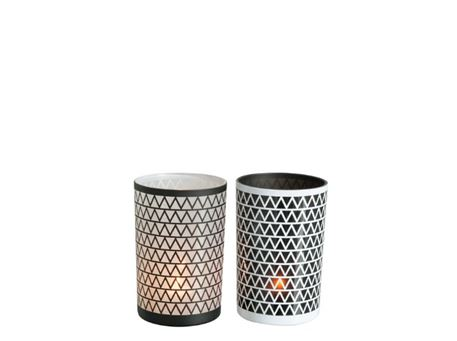 81863 - Patterned Glass Candle Holder