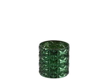 86538 - Green Cylindrical Vase