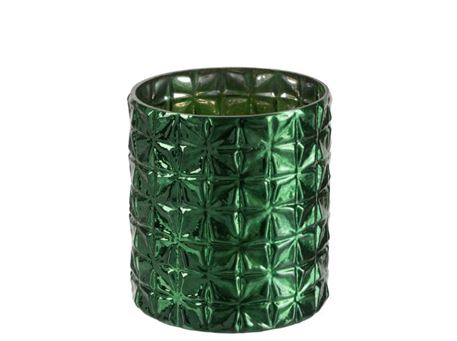 86538/39 - Green Cylindrical Vase