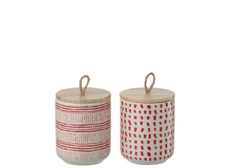 86851/52 - Patterned Storage Jar