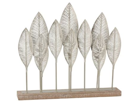 92205 - Metal Leaves On Stand