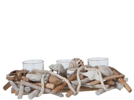 93638/39/40 - Branch And Rope Candle Holder
