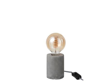 93765 - Round Cement Table Lamp