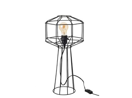 93789 - Open Metal Round Tablelamp