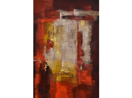 FR-Q-G18512-1/2 - Hand-Made Contemporary Oil Painting Artwork