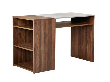 MASSIMO - Grey & Walnut Simple Home Office Desk