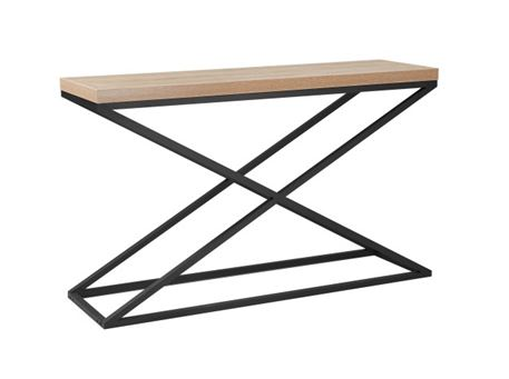 ESTA - Natural Wood Color Console With Metal Legs