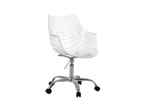 PC-107 - Clear Chair With Wheels