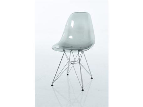 PC-231 - Clear Chair With Wheels