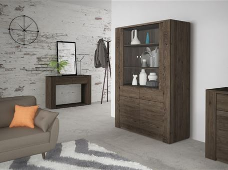 RITTA-1065 - Brown Wood Entrance Console
