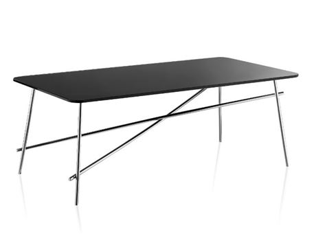 LC-012-1 - Black Tempered Glass Top Coffee Table