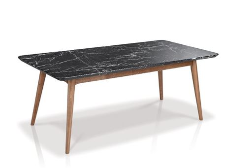 LC-019-1 - Black Marble Top Center Table