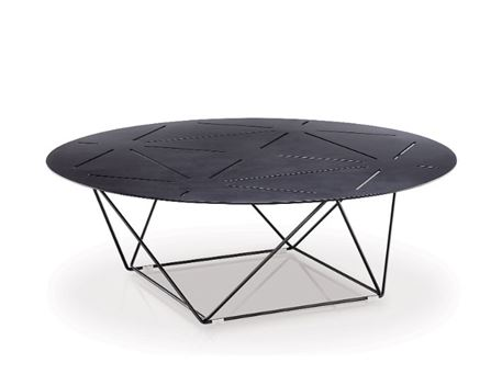 LC-035-1 - Black Metal Top Coffee Table