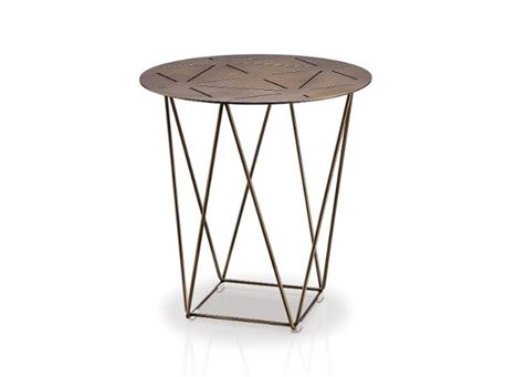 LC-035-2 - All Metal Black Round Side Table
