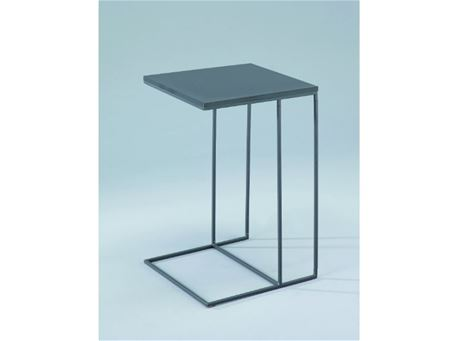 Lombardia - Square Grey Side Table With Metal Base