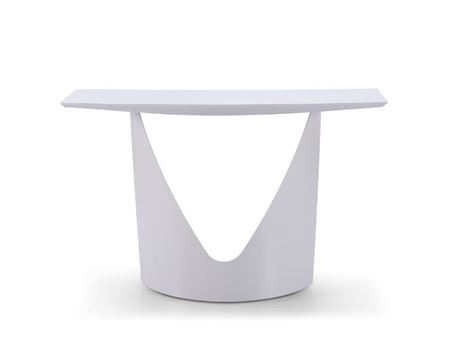CS15873 - Modern Simple White Console With Curved Base